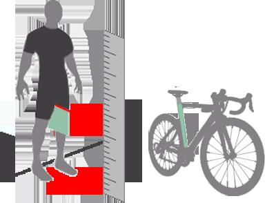 Schritthöhe messen